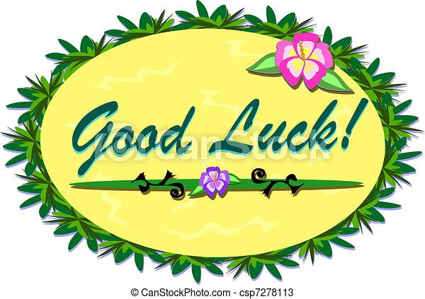 Tropical Good Luck Sign - csp7278113