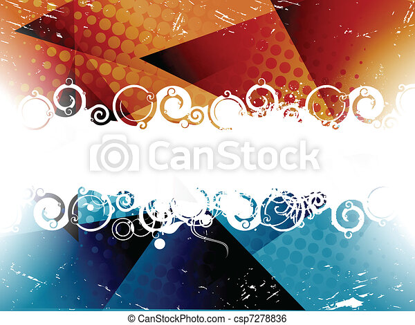 abstract colourful grunge banner - csp7278836