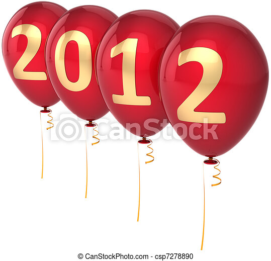 New Year's 2012 eve balloons - csp7278890
