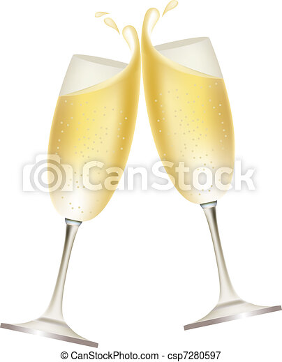 Two glasses full of champagne - csp7280597