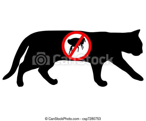 Cat flea prohibited - csp7280753