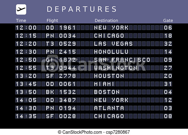 Airport timetable - csp7280867