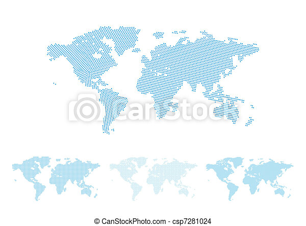 World map halftone - csp7281024
