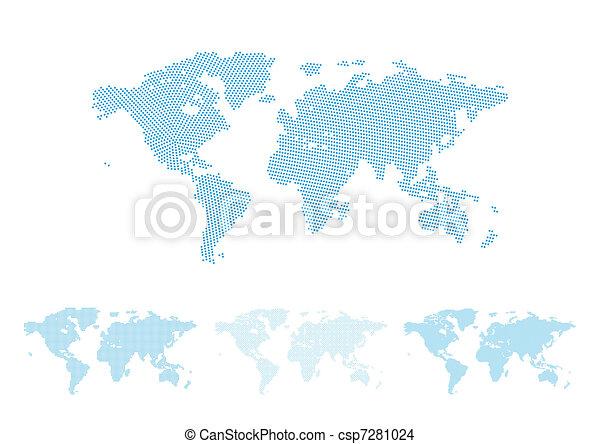 World map halftone - csp7281024