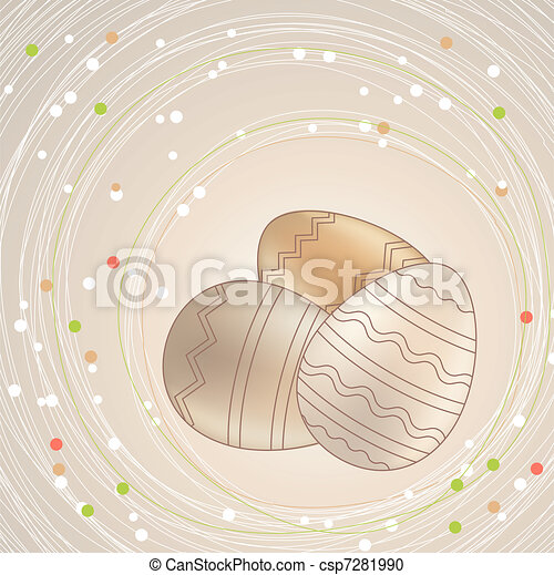 Pastel easter eggs - csp7281990
