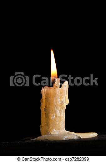 Burning candle - csp7282099
