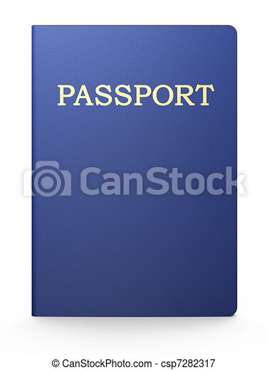 Passport on white - csp7282317