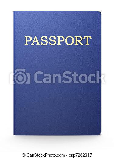 Passport on white - csp7282317