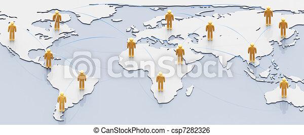 Social network concept - csp7282326