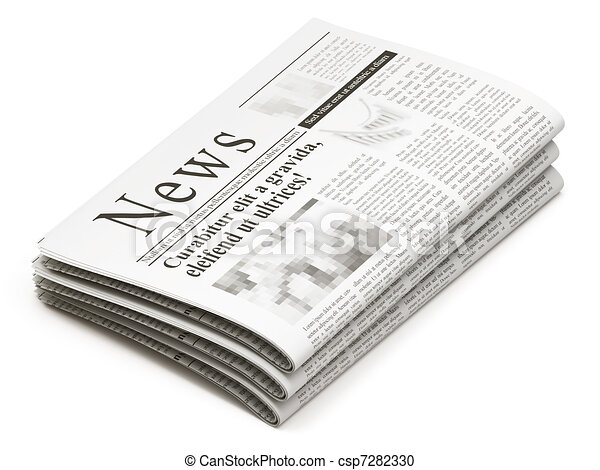 Newspapers stack - csp7282330