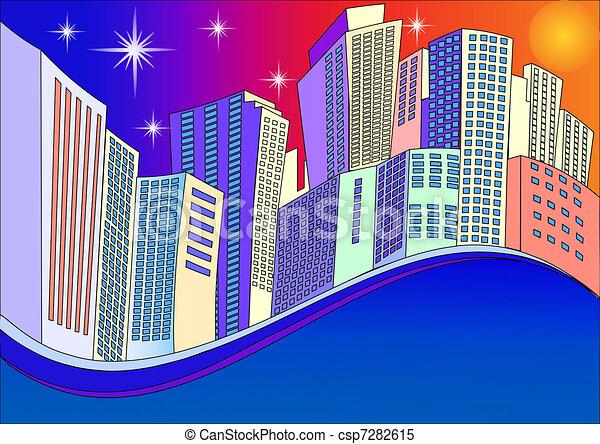 background modern industrial city - csp7282615