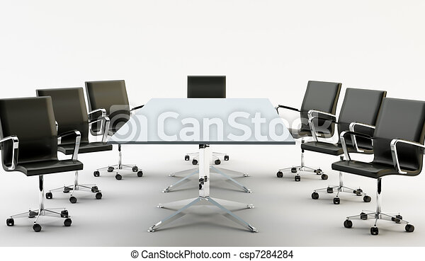 Chairs and office table - csp7284284