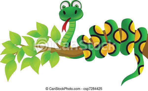 Snake cartoon - csp7284425