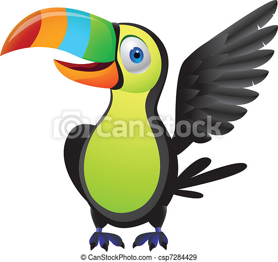 EPS Vectors of Toucan bird - Vector illustration of toucan bird ...