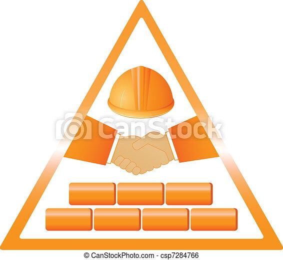 construction handshake - csp7284766