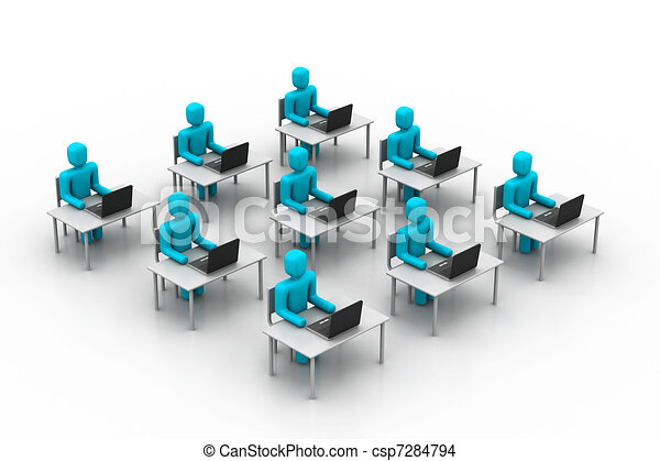 People working in office - csp7284794