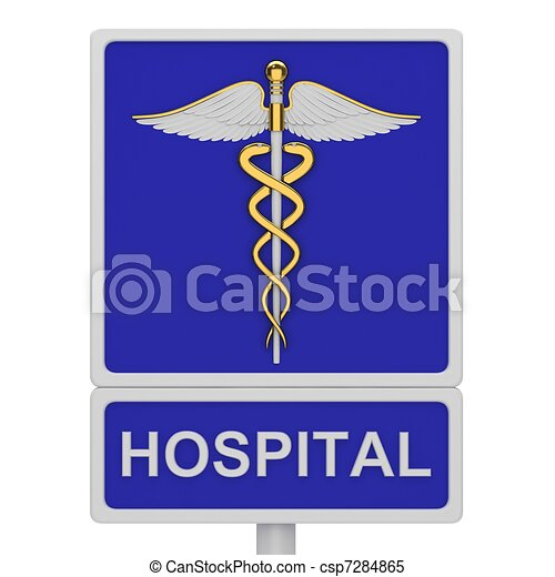 Hospital road sign - csp7284865
