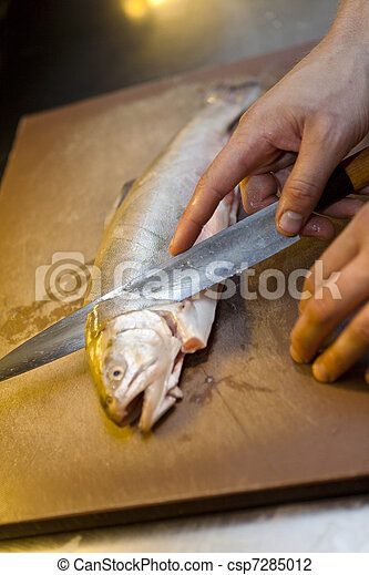 Preparing Fish - csp7285012
