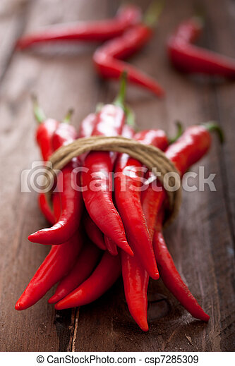 Tied Red Chili Peppers