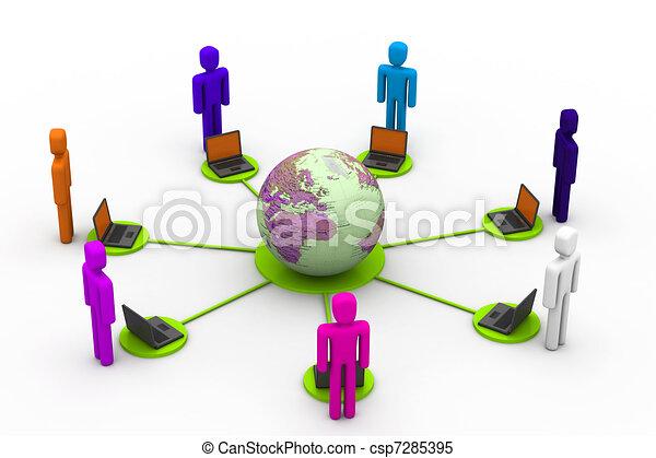 Global community - csp7285395