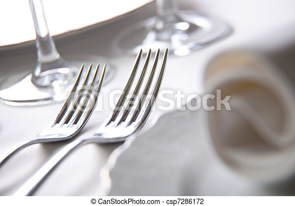 Place setting, close-up photo - csp7286172