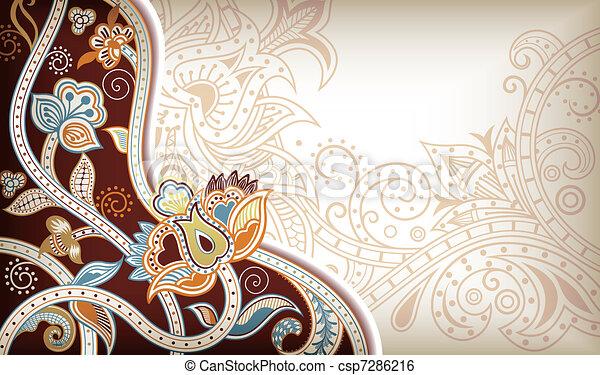 Asia Floral - csp7286216