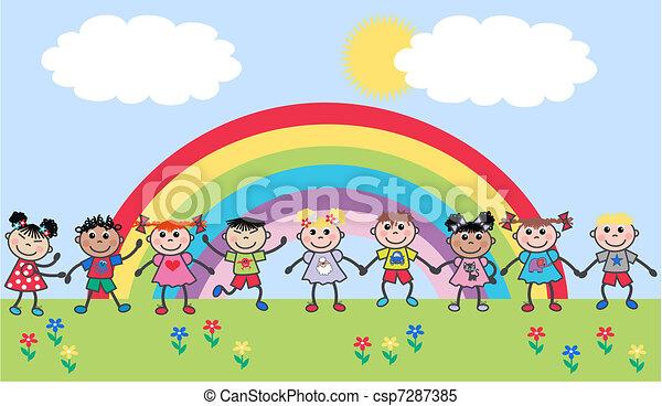 ethnic mixed children - csp7287385