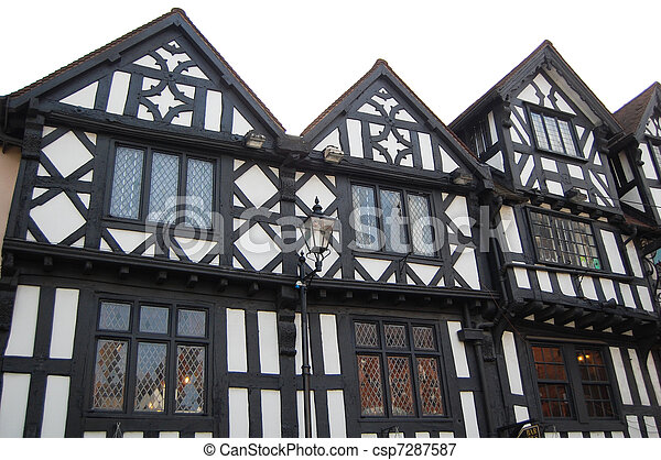 tudor historic buildings - csp7287587