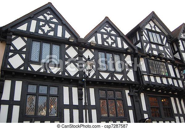 tudor historic buildings - csp7287587