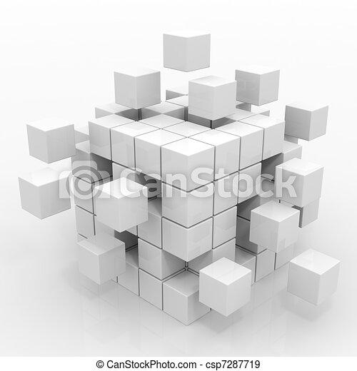 Cube assembling from blocks - csp7287719
