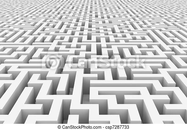 White infinity maze. - csp7287733
