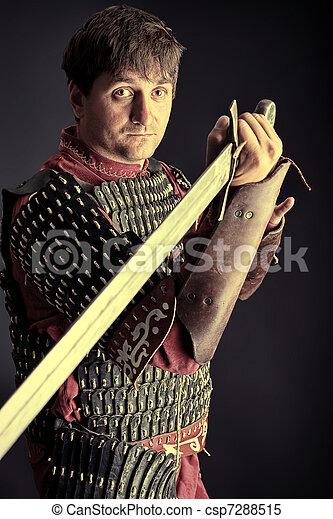 medieval knight - csp7288515