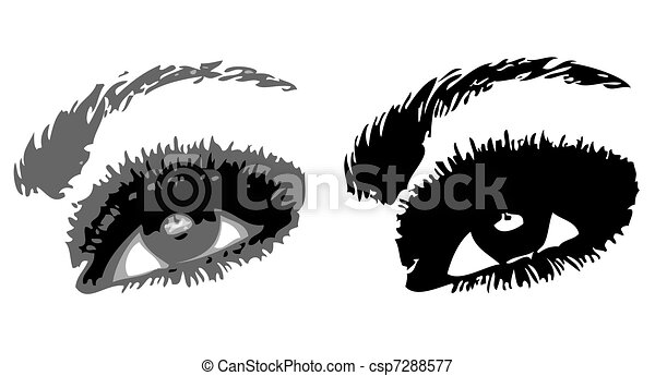 Two eyes. Vector illustration - csp7288577