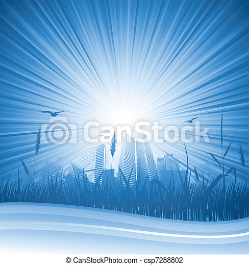 Abstract city sunlight - csp7288802