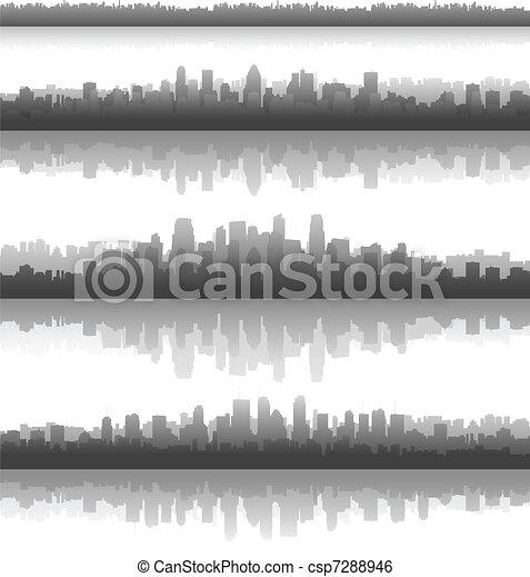 City silhouettes - csp7288946