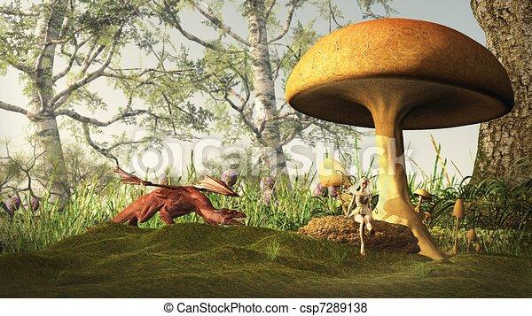 Dangerous Fairytale Forest - csp7289138