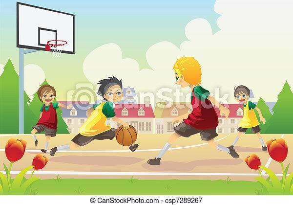Campos de baloncesto para adolescentes