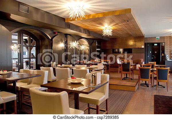 modern restaurant - csp7289385