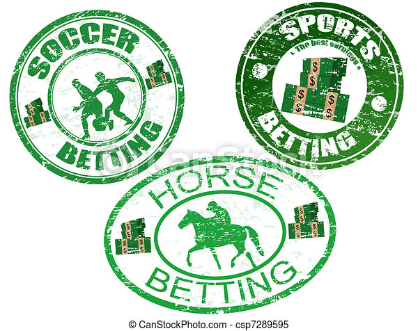 Horse, soccer and sports betting stamps - csp7289595