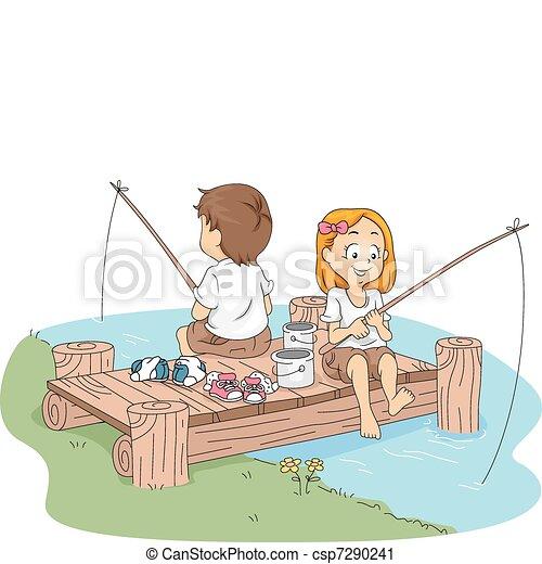 Camp Fishing - csp7290241