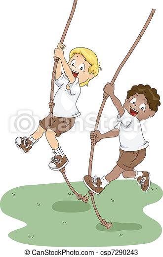 Rope Swing - csp7290243