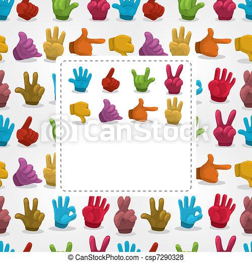 cartoon finger card - csp7290328