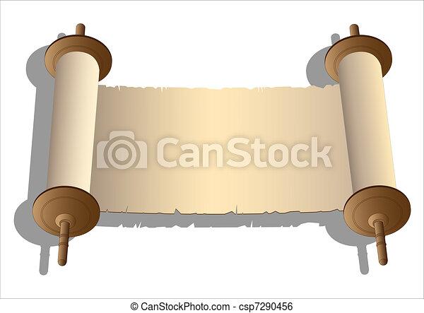 Vector ancient scrolls - csp7290456