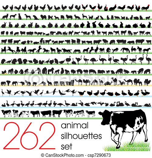 262 Animal Silhouettes Set - csp7290673