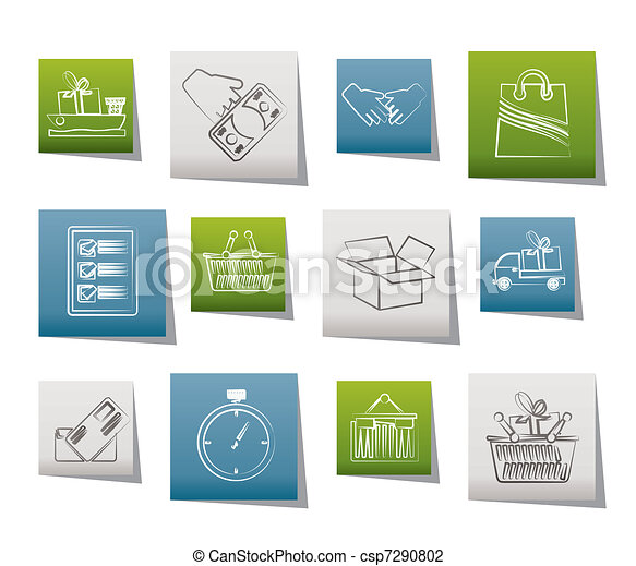 Shipping and logistic icons - csp7290802