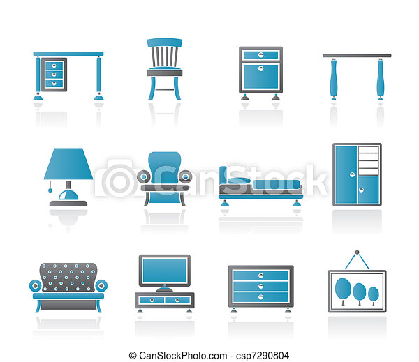 Home Equipment and Furniture icons  - csp7290804