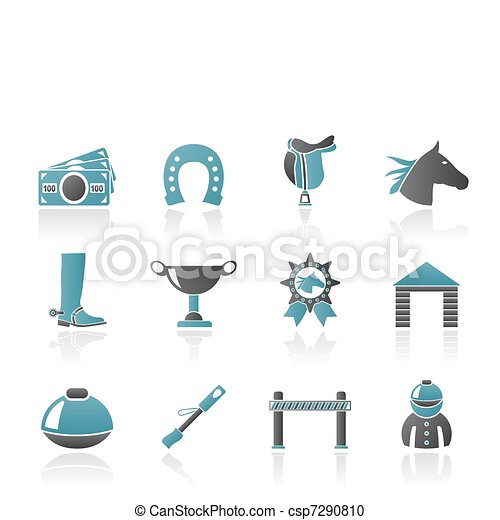 Horse Racing and gambling Icons - csp7290810