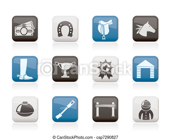Horse Racing and gambling Icons - csp7290827