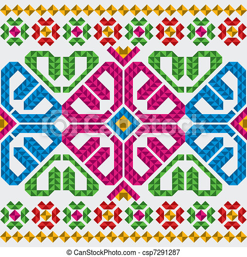 Traditional Mexican Ornaments Set - csp7291287