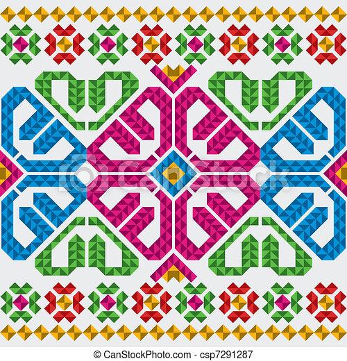 Traditional Mexican Ornaments Set - csp7291287